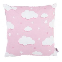 Ružová bavlnená obliečka na vankúš Apolena Skies, 35 x 35 cm