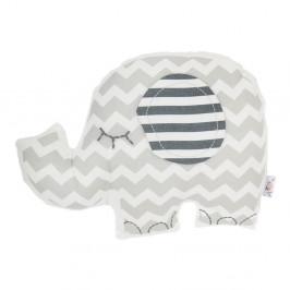 Sivý detský vankúšik s prímesou bavlny Mike&Co.NEWYORK Pillow Toy Elephant, 34 x 24 cm
