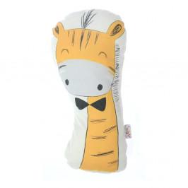 Detský vankúšik s prímesou bavlny Mike&Co.NEWYORK Pillow Toy Giraffe, 17 x 34 cm