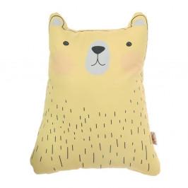 Žltý detský vankúšik s prímesou bavlny Mike&Co.NEWYORK Pillow Toy Bear Cute, 22 x 30 cm
