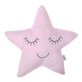 Svetloružový detský vankúšik s prímesou bavlny Mike&Co.NEWYORK Pillow Toy Star, 35 x 35 cm