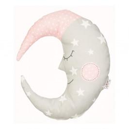 Béžovo-ružový detský vankúšik s prímesou bavlny Apolena Pillow Toy Moon, 30 x 33 cm