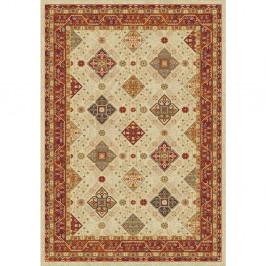 Červeno-béžový koberec Universal Nova, 200 x 67 cm