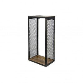 Nástenná polica s detailom z mangového dreva HSM collection Brixton, 98×64 cm