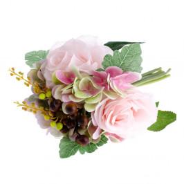 Umelý kvet v štýle ruže s hortenziou Dakls