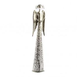 Kovová dekorácia v tvare anjela Dakls Angel, výška 39 cm