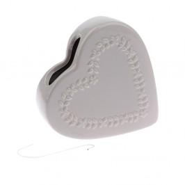 Sivý keramický zvlhčovač vzduchu Dakls Heart