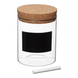 Dóza s tabuľovým štítkom Kitchen Craft Natural Elements,⌀ 13cm