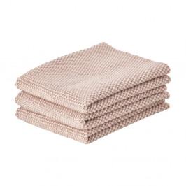 Sada 3 béžových bavlnených kuchynských utierok Zone Garro, 27 × 27 cm