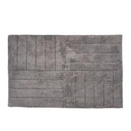 Sivohnedá bavlnená kúpeľňová predložka Zone Classic, 50 × 80 cm