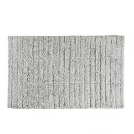 Svetlosivá bavlnená kúpeľňová predložka Zone Tiles, 50 × 80 cm
