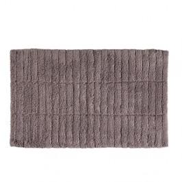 Hnedá bavlnená kúpeľňová predložka Zone Tiles, 50 × 80 cm