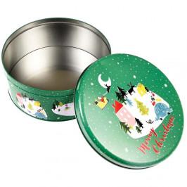 Okrúhla plechová škatuľka Rex London Christmas Wonderland