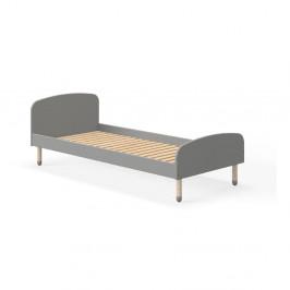 Sivá detská posteľ Flexa Play, 90 x 190 cm