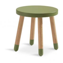 Zelená detská stolička Flexa Dots, ø 30 cm
