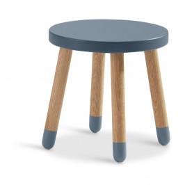 Modrá detská stolička Flexa Dots, ø 30 cm