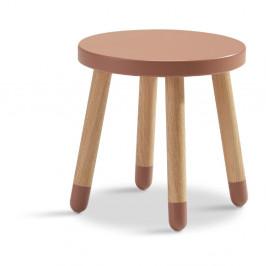 Ružová detská stolička Flexa Dots, ø 30 cm