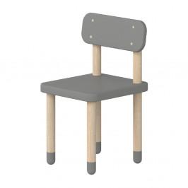 Sivá detská stolička Flexa Dots