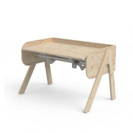 Detský písací stôl z borovicového dreva s nastaviteľnou výškou Flexa Woody