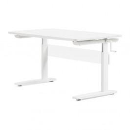 Biely písací stôl s nastaviteľnou výškou Flexa Elegant