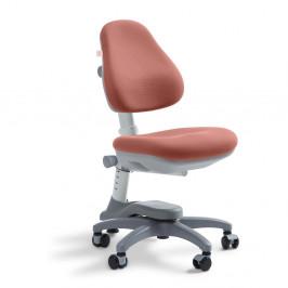 Ružová detská otočná stolička na kolieskach Flexa Novo, 4 - 10 let