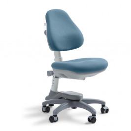 Modrá detská otočná stolička na kolieskach Flexa Novo, 4 - 10 let