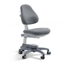 Sivá detská otočná stolička na kolieskach Flexa Novo, 4 - 10 rokov