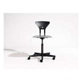 Čierna detská otočná stolička na kolieskach Flexa Ray
