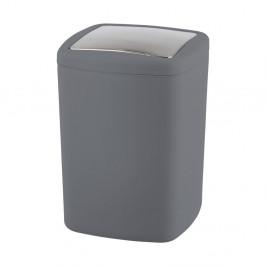 Antracitovosivý odpadkový kôš Wenko Barcelona L, výška 28,5 cm