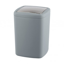 Sivý odpadkový kôš Wenko Barcelona L, výška 28,5 cm