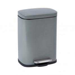 Sivý pedálový odpadkový kôš Wenko Leno, 5 l