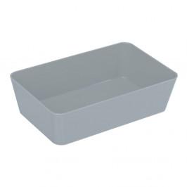 Sivý úložný box Wenko Candy, 22 x 14 cm