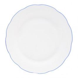 Biely porcelánový plytký tanier Orion Blue Line, ⌀ 26,5 cm