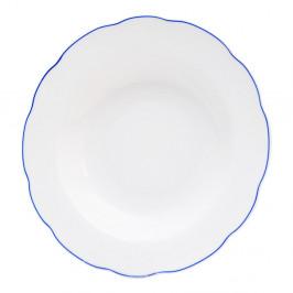 Biely porcelánový hlboký tanier Orion Blue Line, ⌀ 21 cm