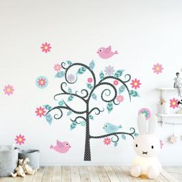 Sada detských samolepiek na stenu Ambiance Fairy Tree