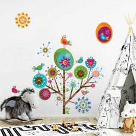 Sada detských samolepiek na stenu Ambiance Multicolor Tree