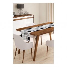 Behúň na stôl z mikrovlákna Minimalist Cushion Covers Pearl, 45×145 cm