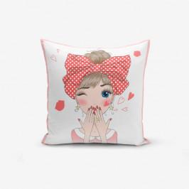 Obliečka na vankúš Minimalist Cushion Covers Cute Girl, 45×45 cm