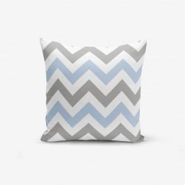 Obliečka na vankúš Minimalist Cushion Covers Zigzag Modern Blue, 45×45 cm
