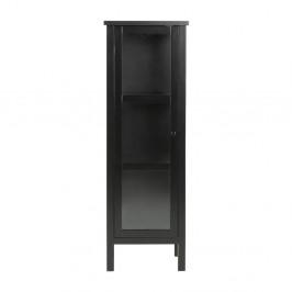 Čierna vitrína Actona Eton, výška 136,5 cm