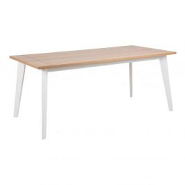 Hnedo-biely jedálenský stôl Actona Derry, 180×90 cm