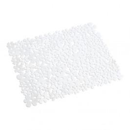 Biela podložka do drezu Wenko Sink Mat Flower, 31×26 cm