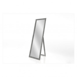 Stojacie zrkadlo so sivým rámom Styler Sicilia, 46 x 146 cm