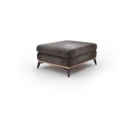 Tmavohnedý puf so zamatovým poťahom Windsor & Co Sofas Astre