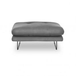 Sivý puf so zamatovým poťahom Windsor & Co Sofas Gravity