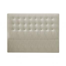 Béžové čelo postele so zamatovým poťahom Windsor & Co Sofas Athena, 200×120 cm