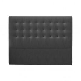 Tmavosivé čelo postele so zamatovým poťahom Windsor & Co Sofas Athena, 200×120 cm