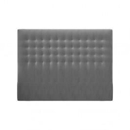 Sivé čelo postele so zamatovým poťahom Windsor & Co Sofas Apollo, 180×120 cm