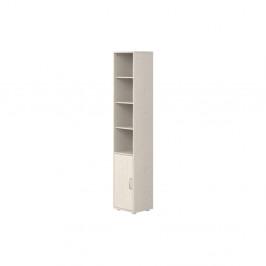 Biela detská skrinka z borovicového dreva Flexa Classic, výška 200 cm