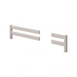 Sivá prerušovaná bezpečnostná zábrana z borovicového dreva k detskej posteli Flexa Classic, dĺžka 197 cm